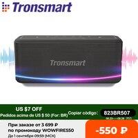 Tronsmart Mega Pro Altavoz Bluetooth Mega Pro, reproductor de música portátil de 60W con bajos mejorados, columna con NFC, resistente al agua IPX5, asistente de voz