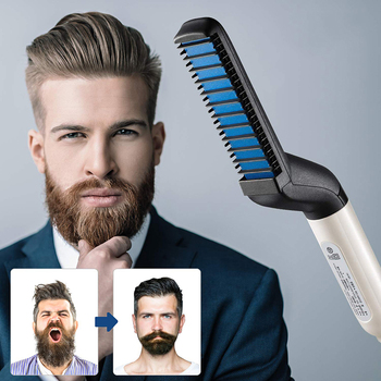 Hairbrush Hair Comb Beard Styling Multifunctional Straighten & Curl Men Hair Curler Styler Quickly Easy to Use Fast Shipping 1
