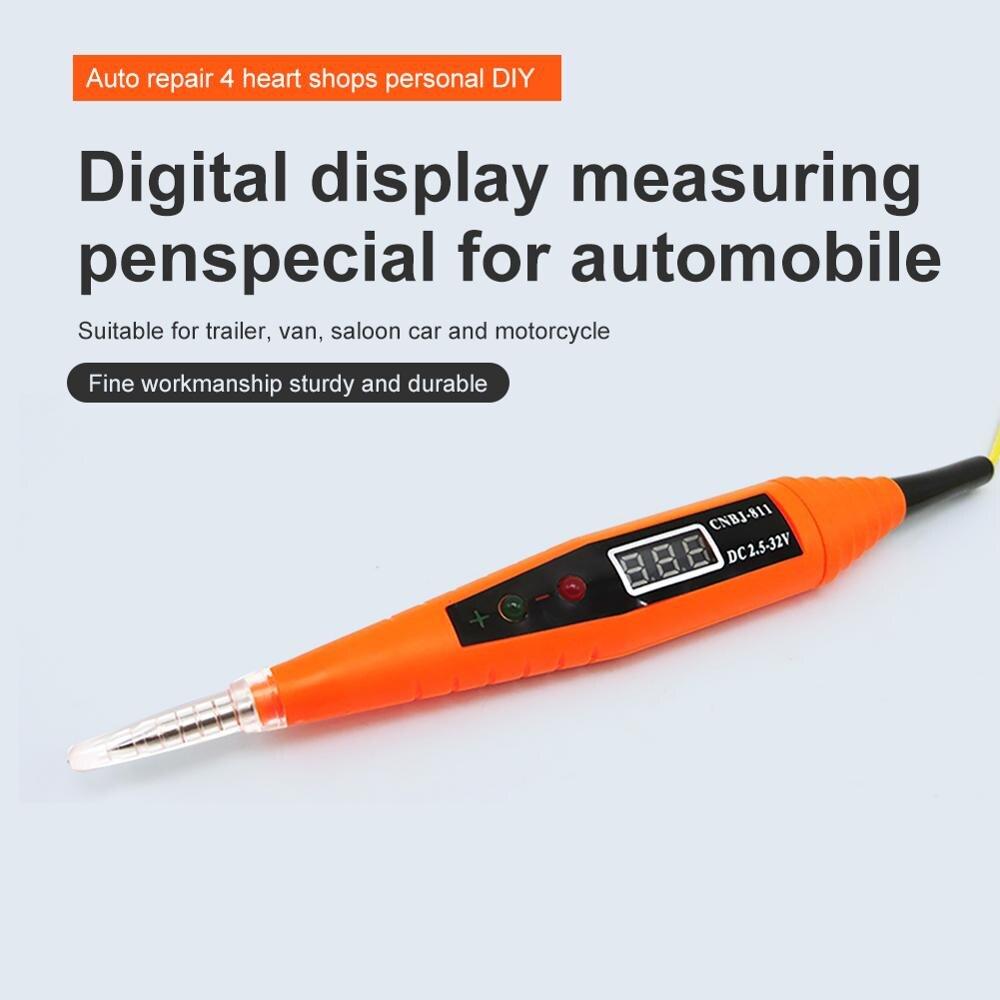 25-32V Auto Digital Circuit-Tester Bleistift Elektrische Diagnose-Tool Power Sonde Spannung Test Stift Detektor Kupfer LCD bildschirm