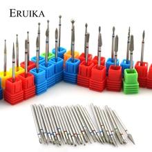 ERUIKA 28 типов Алмазная роторная дрель для ногтей электрические резцы для фрезы для кутикулы чистые заусенцы для маникюра Инструменты пилки для ногтей