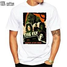 Fly, bilimkurgu, korku, tiyatro, boyut S - 3Xl,1986, eski film, erkek tişört, G0698 rahat baskı moda Tee gömlek