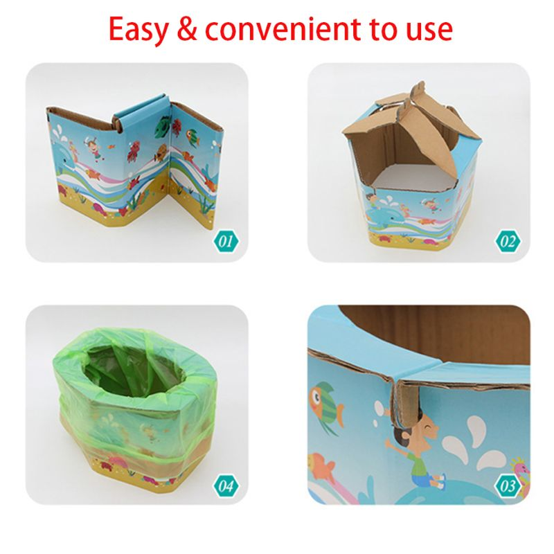 Foldable Child Kids Portable Folding Potty Seat Boys Girls Baby Travel Toilet Training Infant Emergency Potties with Free Bags | Happy Baby Mama