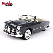 Maisto 1:18 1950 Ford Soft Top car alloy car model simulation car decoration collection gift toy Die casting model boy toy maisto 1 18 1939 ford classic car car alloy car model simulation car decoration collection gift toy die casting model boy toy