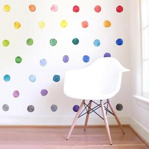 Image 4 - 29 Pcs/Set PVC Baby Wall Decals Colored Dots Creative Stickers for Children Vinyl Nursery Room Decoration