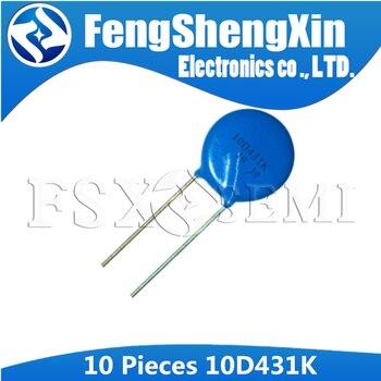 10pcs varistor 10D431K 430V piezoresistor 10D431 10MM - sale item Passive Components