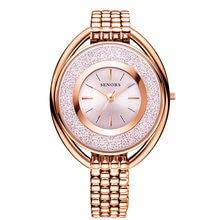 Часы senors женские Простые Романтические наручные цвет розовое