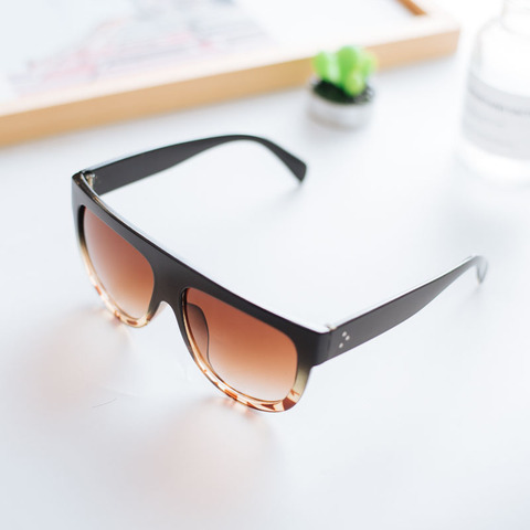 AOXUE New Vintage Pilot Flat Top Sunglasses Women Semi Rimless Big Sunglasses Kim Kardashian Brand Shades Driving Glasses UV400 Islamabad