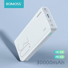ROMOSS Sense 8 + Power Bank 30000 mAh QC PD 3 0 szybkie ładowanie Powerbank 30000 mAh zewnętrzna ładowarka do iPhone Xiaomi Mi tanie tanio Bateria litowo-polimerowa Z lampką LED podwójne USB USB typu C CN (pochodzenie) Micro Usb Oświetlenie Z tworzywa sztucznego