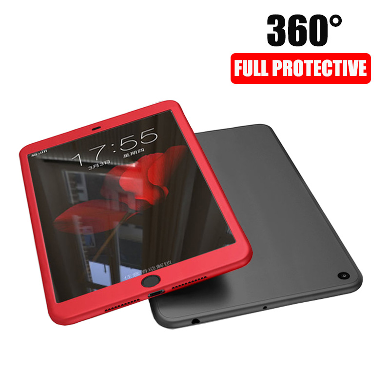 Tempered Glass For Ipad 10.2 2019 Case 360 Degree Front Back Full Cover Silicone Case For IPad 7th Generation A2197 A2198 A2200