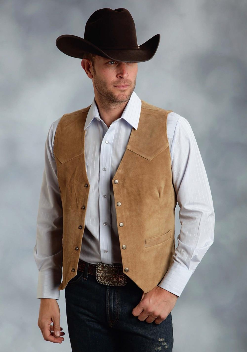 Men's Vest Vintage Cowboy Style Waistcoats For Young Weste Men Casual Tuxedo Vest Kamizelki Meskie Plus Szie Custom