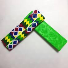 4 jardas poliéster ancara tecido de cera gravando chitenge ghana kente impresso tecido de cera africano kitenge impressão tecido de cera aw30