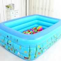 1.3M Three ring Baby Inflatable Printing Swimming Pool PVC Playing Bathing Pool for Family Children