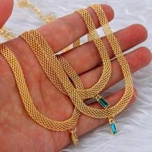 Caraquet Vintage tissé large chaîne croix collier ras du cou pour les femmes coloré rectangulaire cristal pendentif collier 2021 bijoux