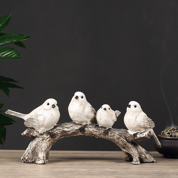 American Modern Creative Bird Ornaments Home Minimalist Vintage Home Decor Home Decoration Accessories for Living Room FF80O