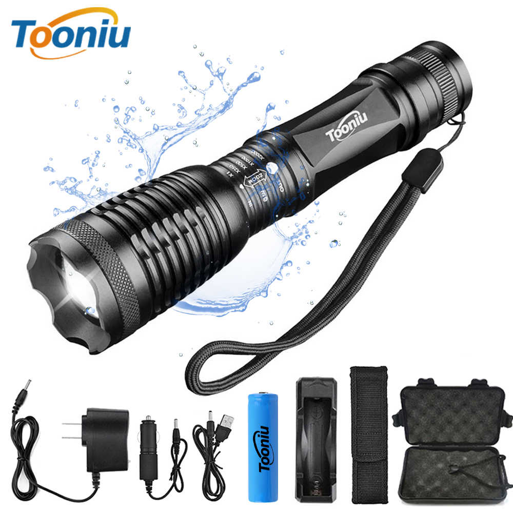 Super bright LED flashlight bicycle light 5 modes zoomable waterproof tactical Torch using 18650 battery for outdoor activities
