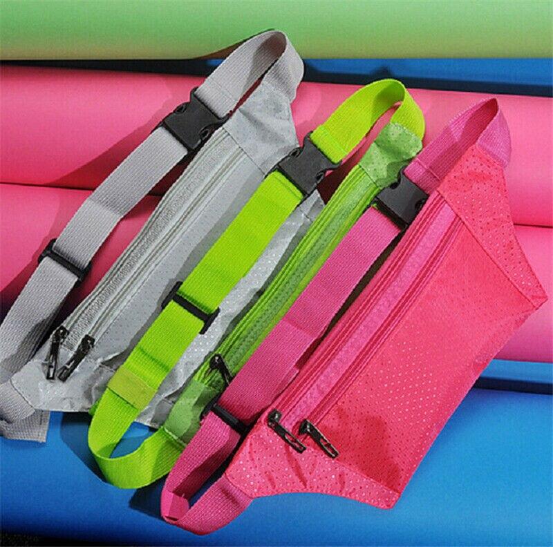 Outdoor Sport Bum Bag Fanny Pack Travel Waist Money Belt Zip Pouch Wallet Unisex Running Jogging Cycling Bag Belt Pack