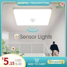 LED plafonniers PIR capteur de mouvement Smart Home éclairage AC85-265V 9W 13W 18W 24W 36W plafonnier pour couloir de couloirs de pièce