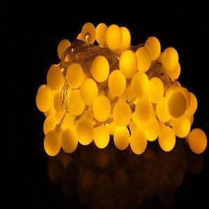 Image 4 - 110V 220V 10 M 20 M 30 M 50 M Opaco Palla Ha Condotto La Luce Della Stringa Ghirlanda di Natale per partito di Festa di Nozze a Casa Allaperto Impermeabile Decor