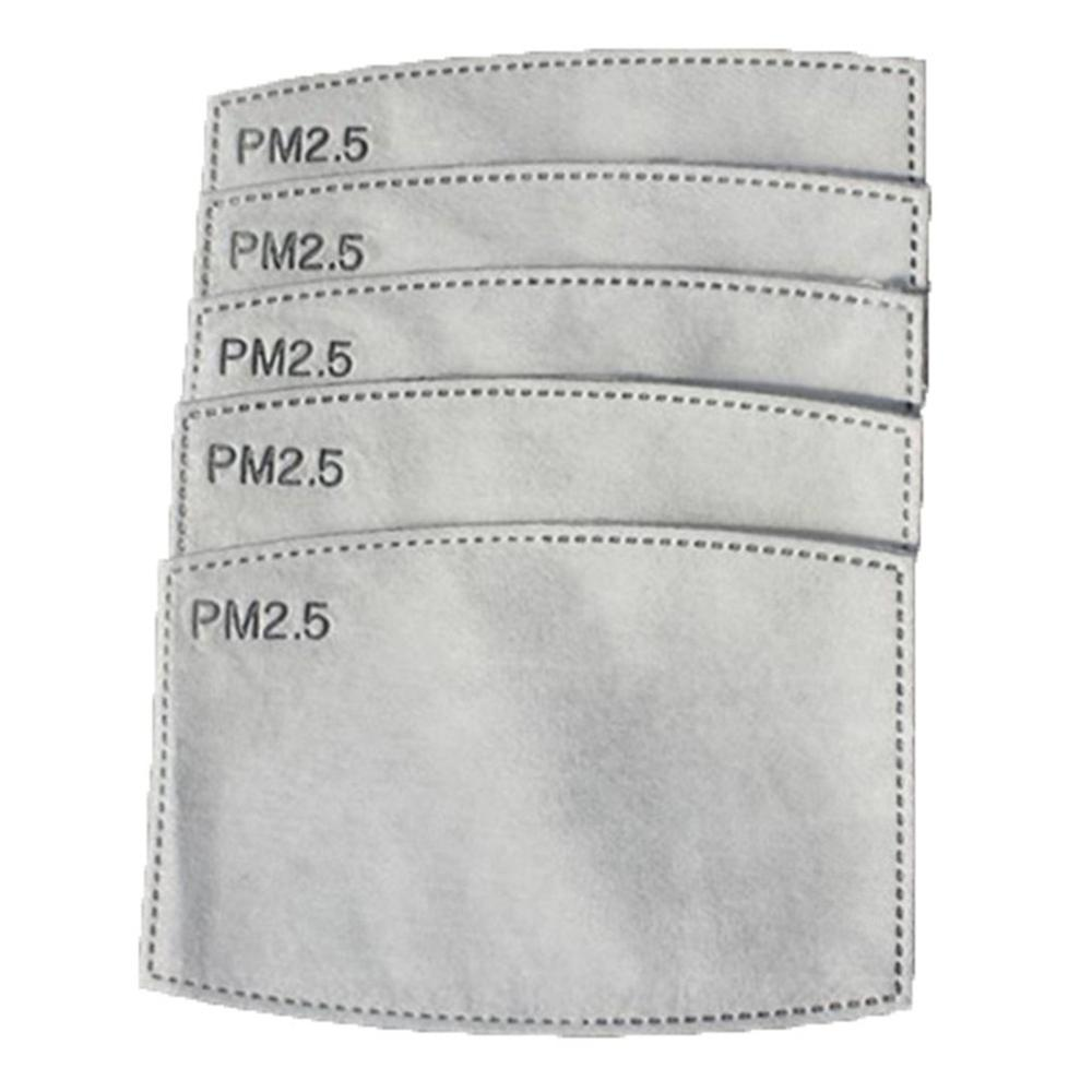 Cotton Pm2.5 5-Layer Black Mouth Mask Anti Dust Mask Activated Carbon Filter Windproof Mouth-Muffle Face Masks Care