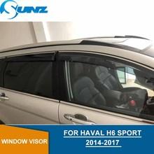 Window Visor For Haval H6 Sport 2014 2017 side window deflectors rain guards for HAVAL H6 2014 2017 Sport SUNZ