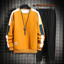 Pants Men Sweatshirt Workout-Clothes Side-Stripe Running-Suit Casual And Outdoor Polyester