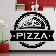 Kitchern Blackground Wall Sticker Pizza Food Lettering Quotes Home Decor Fast Pizzeria Decals W666