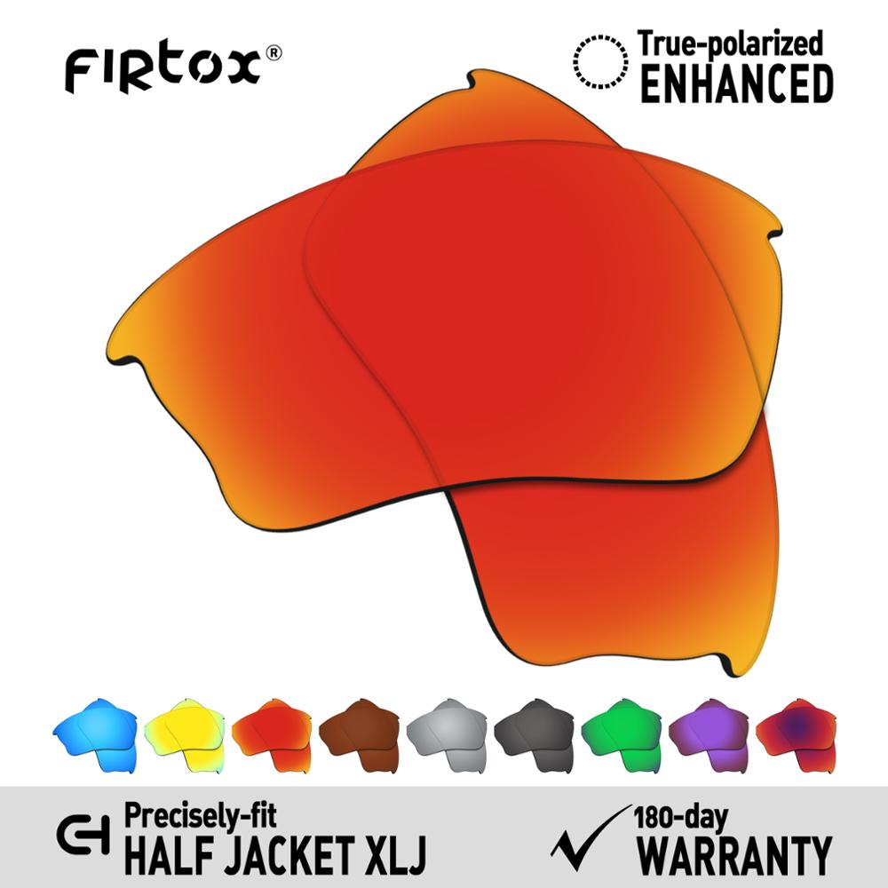 Firtox True UV400 Polarized Lenses Replacement For-Oakley Half Jacket XLJ Sunglasses (Compatiable Lens Only) - Multiple Colors