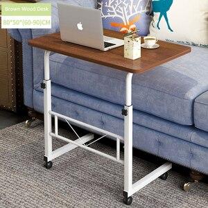 Image 3 - Casa móvel portátil mesa de cabeceira mesa do computador móvel ajustável mesa do portátil altura lateral mesa de estudo suporte do computador fr cama sofá