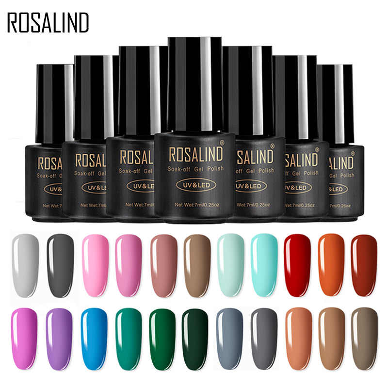 ROSALIND Set di smalti per Gel per estensione unghie Vernis Semi permanente tutto per Manicure Base Coat nail art Gel UV smalto per unghie