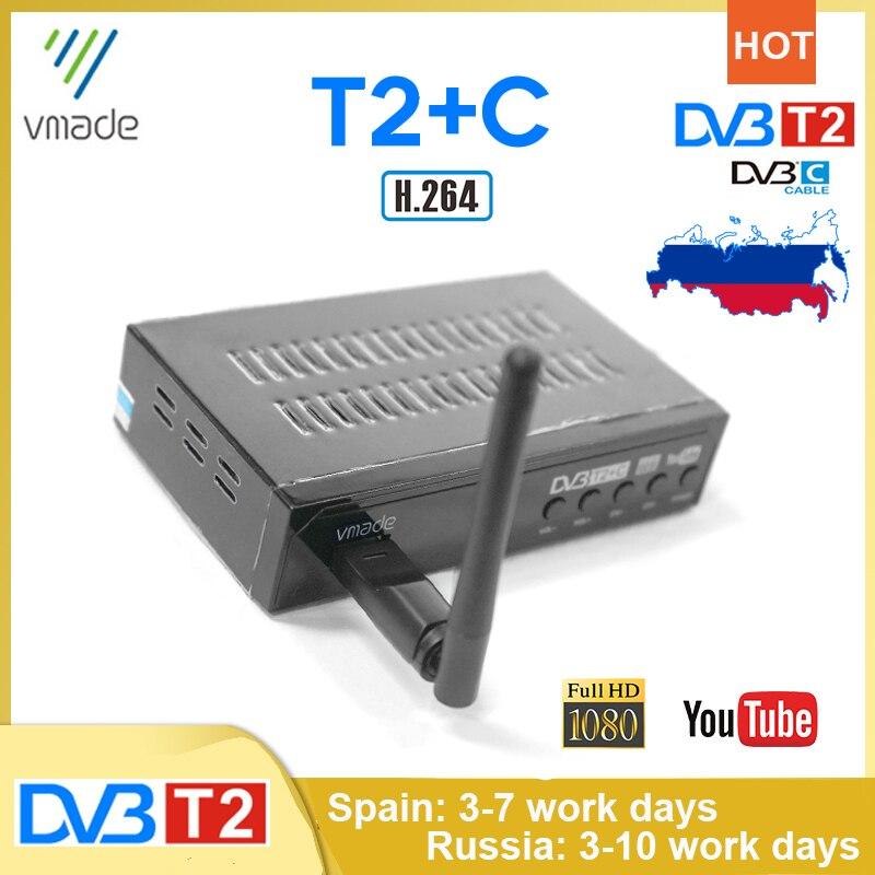 Хит продаж, ТВ-приемники для российского цифрового телевидения DVB T2 DVB-C Combo, H.264, поддержка Youtube, Европа, Испания, ТВ-тюнер, ТВ-приставка