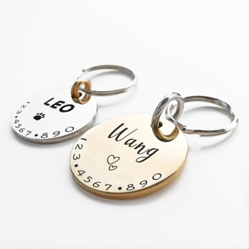 Personalized Pet Cat Dog ID Tag Collar Custom Engraved  1