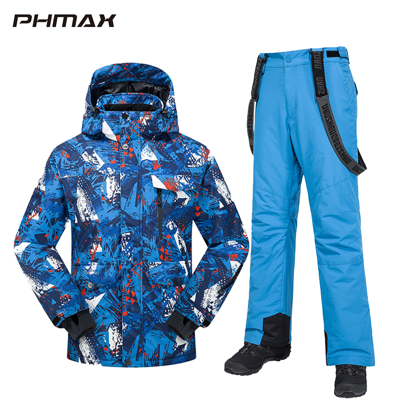 PHMAX Winter Ski Suit Men Women Windproof Ski Jacket Pants Set Waterproof Keep Warm Outdoor Skiing and Snowboarding Jacket