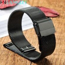 Para huawei gt/gt2 pulseiras de relógio 46mm/42mm milanês aço inoxidável b5 b3 banda pulseira universal 16/18/20/22mm pulseira de substituição