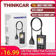 Thinkcar Thinkobd 20 OBD2 Scanner Auto Auto Diagnostic Tool Automotivo Code Reader Check Engine Light Dtc Lookup
