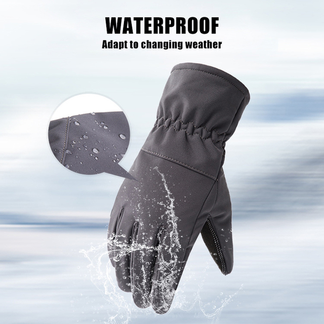 Queshark Women Men Winter Camouflage Hunting Gloves Warm Anti-slip Fishing Gloves Waterproof Touch Screen Skiing Camping Gloves 2