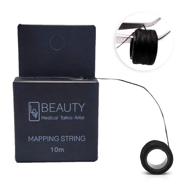 10M Mapping Pre-ink String For Microblading Eyebow Makeup Dyeing Liners Thread Semi Permanent Positioning Eyebrow Measuring Tool 2