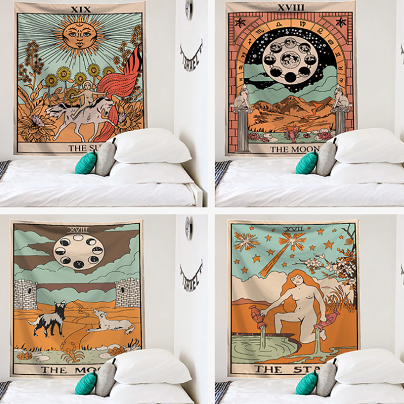 22 Kinds Beautiful Pattern Thin Style Tarot Tablecloth Astrology Sofa Cover Tapestry Tarot Board Game Accessorie