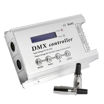LED Strip DMX Decoder with XLR3 and RJ45 AC110V AC220V LED Neon Light DMX512 Controller Max
