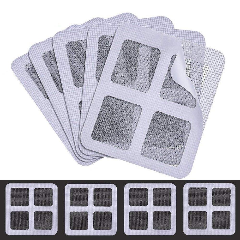 Wall Repair Patch Kit | Window And Door Screen Repair Patch Adhesive Repair Kit 12 Pack Fix Net Window Home Wall Patch Stickers Mesh Window Screen