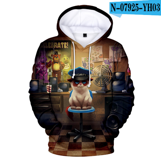 Personality Five Nights At Freddy Hoodies Sweatshirts Boys Girls 3D Hooded Creative FNAF Autumn Winter Child Hoodie Pullovers
