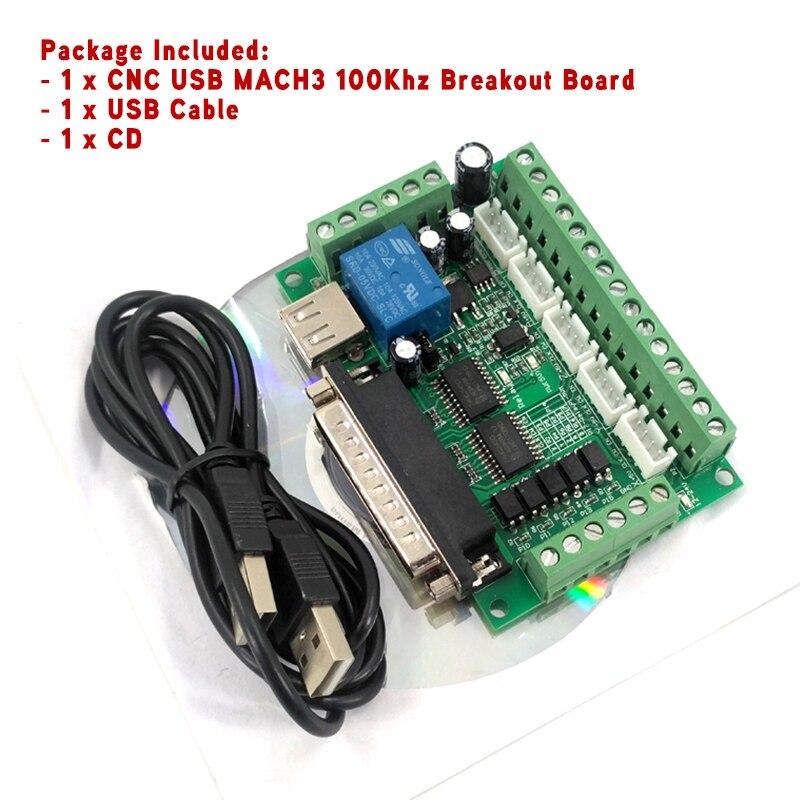 Controlador de Movimento Breakout Board 100 Khz Driver Am9587 Dl45 ac Motor Controlador Novas Máquinas-ferramentas 2019 5-axis Usb Mach3 Cnc