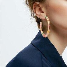 8Seasons Minimalism Copper Stud Earrings Gold/Black/Silver Color C-Shape Earrings Women Party Club Jewelry 45mm x 45mm, 1 Pair pair of chic lipstick shape earrings for women