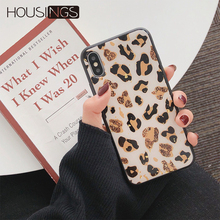 Glitter Leopard Phone Case For iPhone 6s 7 8 Plus Luxury Bling Soft TPU Cover XR XS Max Gold Back