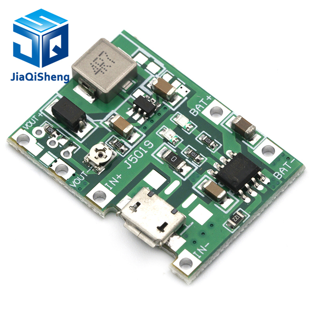 Lithium Li-ion 18650 3.7V 4.2V Battery Charger Board DC-DC Step Up Boost Module Integrated Circuits 3