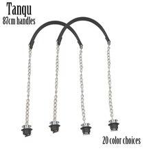 새로운 TANQU 1 쌍 Obag 실버 긴 단일 두꺼운 체인 금속 도금 나사 O 가방 핸들 여성 가방 숄더 핸드백