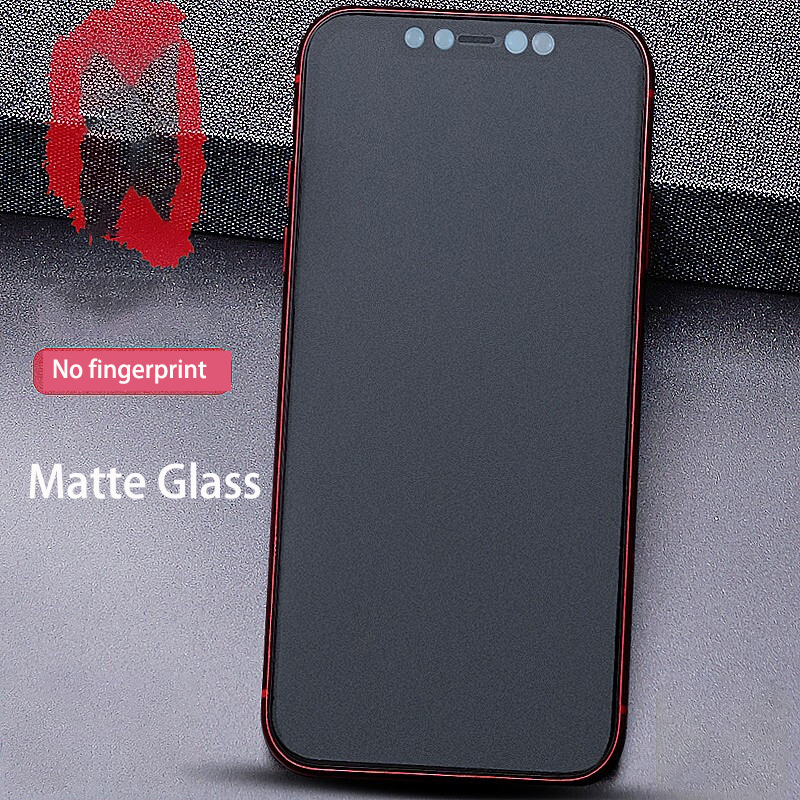No Fingerprint Matte Phone Glass For IPhone SE 6 6S 7 8 Plus  9H Full Cover Hard Tempered Glass For IPhone X XS XR 11 Pro Max
