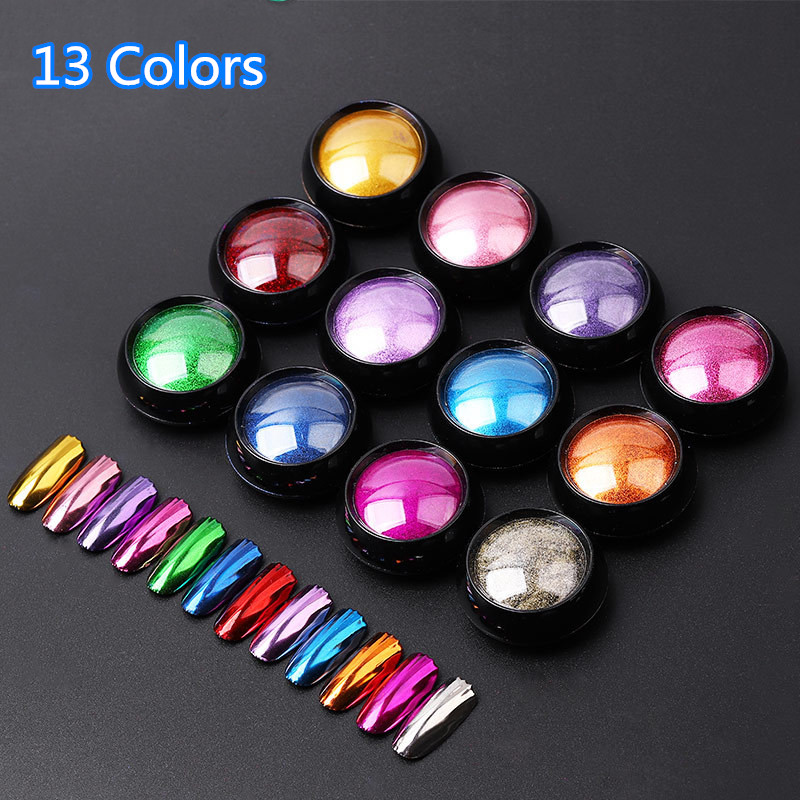 Nail Art Glitter Dipping Powder Chrome Mirror Glitter Pigment Powder For Nails Decorations DIY Manicure 0.5g