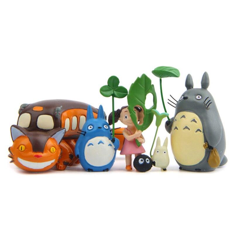 Studio Ghibli Totoros кошка автобус с листьев с изображением героя мультфильма «Мой сосед фигурка Hayao Miyazaki аниме Мини Фигурки Коллекционная модель иг...