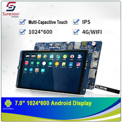 7,0 1024X600 Android grado Industrial WIFI 4G IPS módulo TFT LCD pantalla con w/Panel táctil Multi-capacitivo