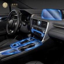 Para lexus rx300 350 450h 2016-2020carro interior console central transparente tpu película protetora anti-scratc reparação filme accessorie